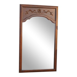 Country Cottage Wood Framed Mirror For Sale