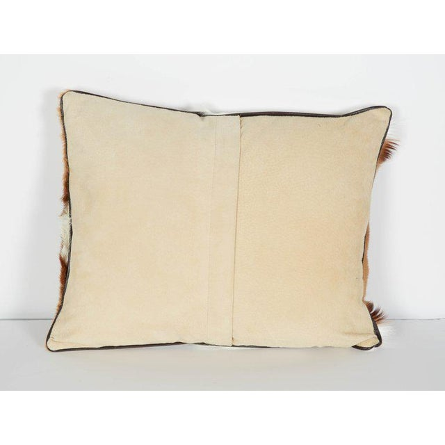 Animal Skin Pair of Luxury Fur Throw Pillows in Exotic African Springbok For Sale - Image 7 of 8
