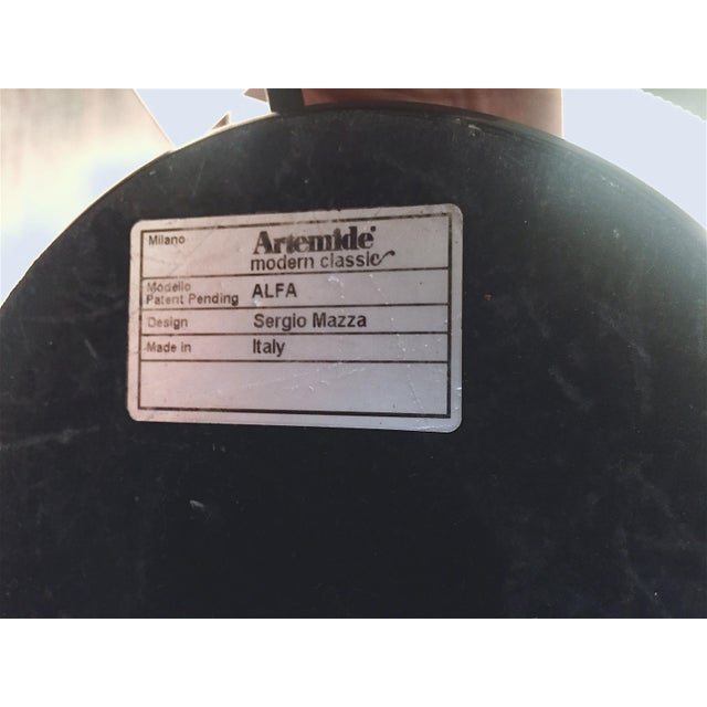 "Metal Sergio Mazza ""Alfa"" Table Lamp for Artemide For Sale - Image 7 of 8"