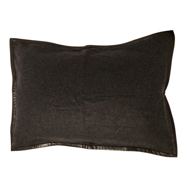 Ralph Lauren Cashmere & Leather Pillow Sham - Image 1 of 7