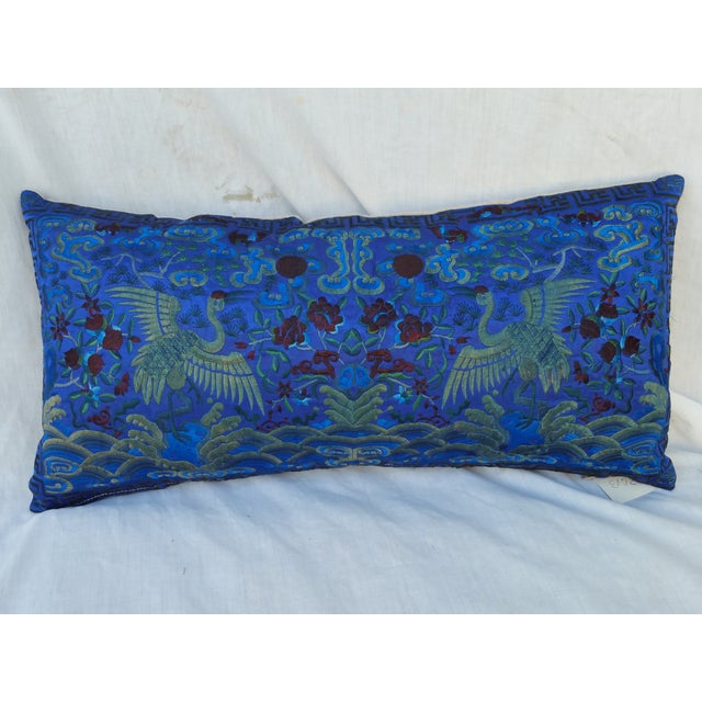 Opulant Silk Embroidered Pillow - Image 2 of 5