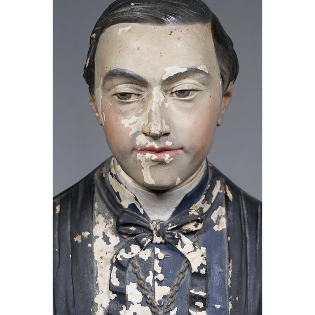 19th Century French Monsignor Plaster Bust - Image 5 of 8