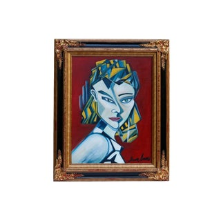 Cubist Style Oil on Canvas - Jezebel by Shawn Sarnow For Sale