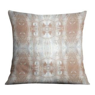 Tortoise Shell Terracotta Grey Pillow For Sale