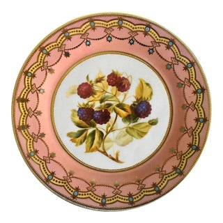 Vintage English Tole Heritage Plate For Sale