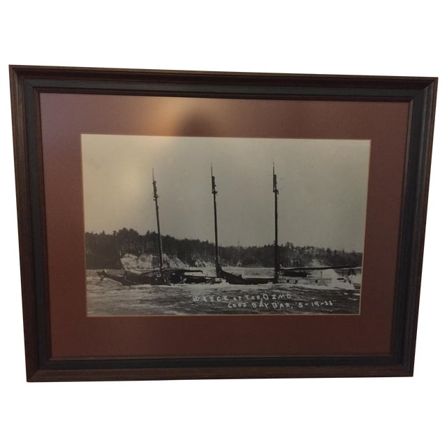 1922 Oregon Coast Shipwreck Print - Image 1 of 3