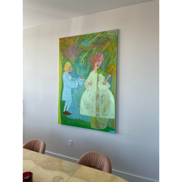 """Contemporary """"Untitled"""" Contemporary Abstract Expressionist Oil Painting For Sale - Image 3 of 7"""