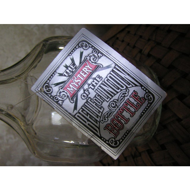 "Vintage ""The Mystery of the Belle of Lincoln Bottle"" Jack Daniels Collectors Bottle For Sale - Image 4 of 6"
