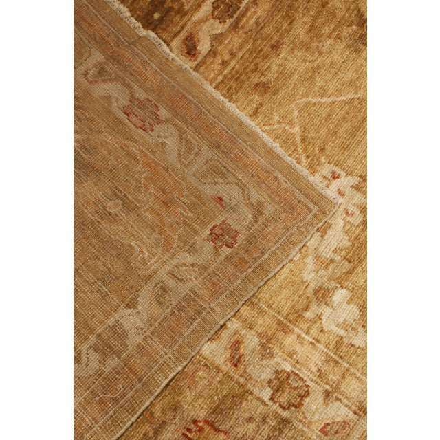 Rug & Kilim Transitional Oushak Design Tan and Red Wool Rug For Sale - Image 4 of 5