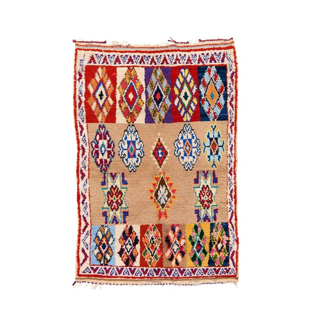 Vintage Azilal Handwoven Rug - 3′1″ × 4′8″ - Image 1 of 2