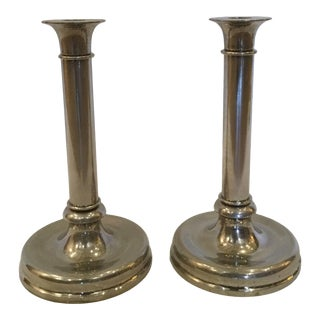 Silver Plate Candlesticks - A Pair For Sale