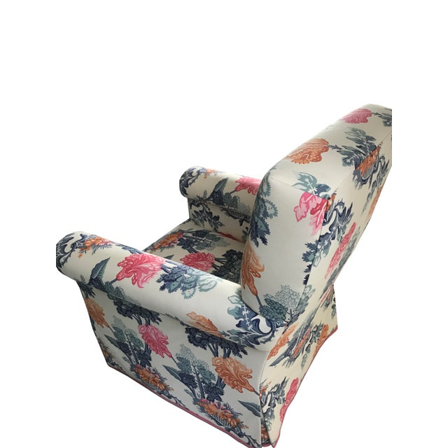 Jon Stefanidis Floral Fabric Skirted Armchair - Image 3 of 6