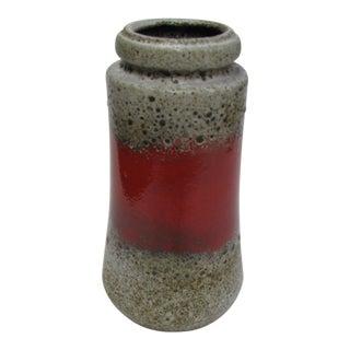 West German Pottery Scheurich Fat Lava Vase For Sale