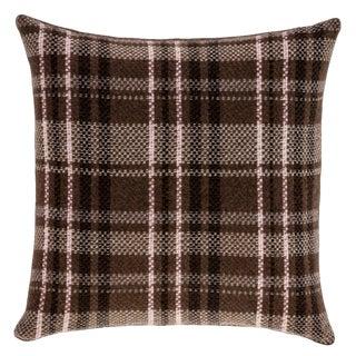 Tartan Yak & Cashmere Pillow For Sale
