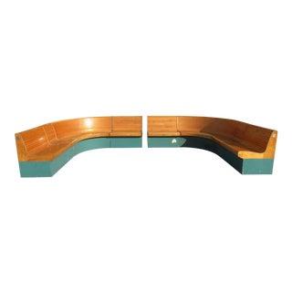 Vintage Brunswick Horseshoe Bench For Sale