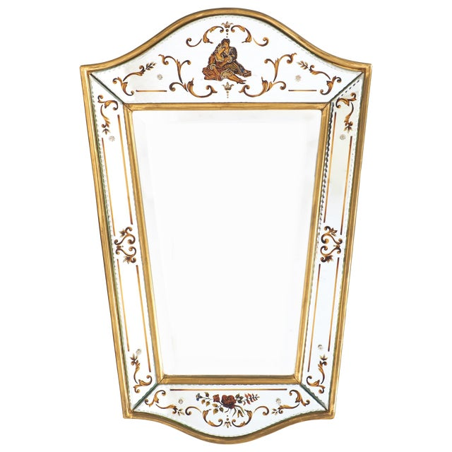 Vintage French Eglomisé Mirror For Sale