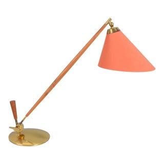 Danish Modern Brass Adjustable Desk or Table Lamp Model Thv-375 by Povl Dinesen For Sale