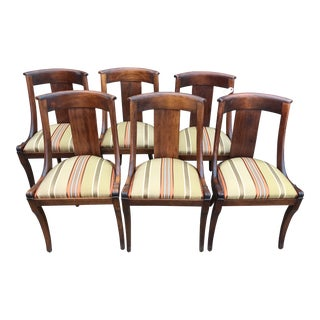 19th Century French Empire Chairs- Set of 6 For Sale