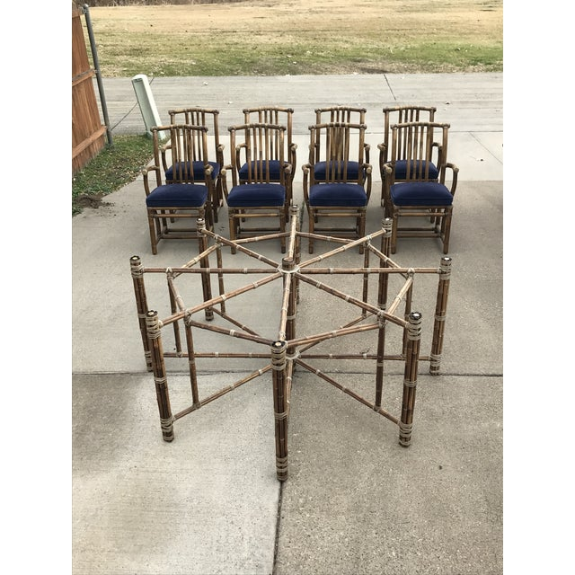 Bamboo Monumental McGuire Dining Set - 9 Pieces For Sale - Image 7 of 13