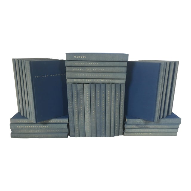 Yale Shakespeare Decorator Blue Books - 38 Volumes For Sale