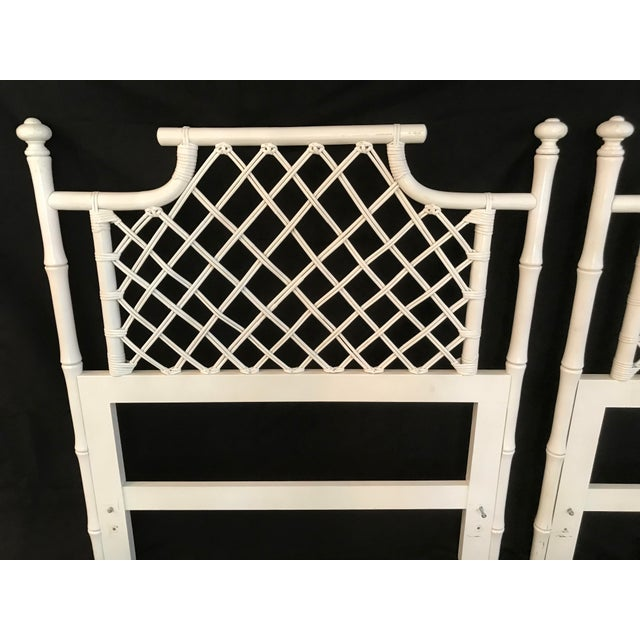 1970s 1970s Ficks Reed Twin or King Faux Bamboo Hollywood Regency Pagoda Headboards - a Pair For Sale - Image 5 of 13