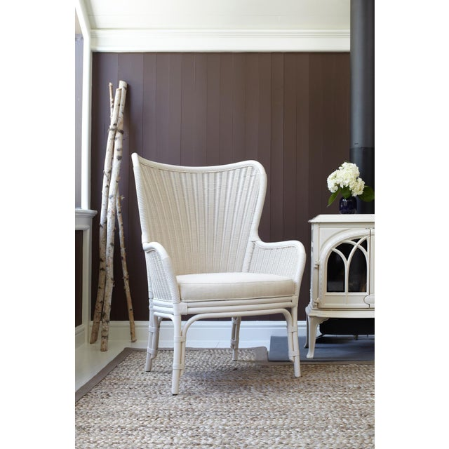 Selamat Designs Sheridan White Wing Chair - Image 2 of 2