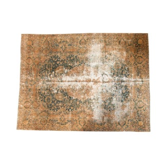"""Vintage Distressed Kashmir Carpet - 7'6"""" X 10'1"""" For Sale"""