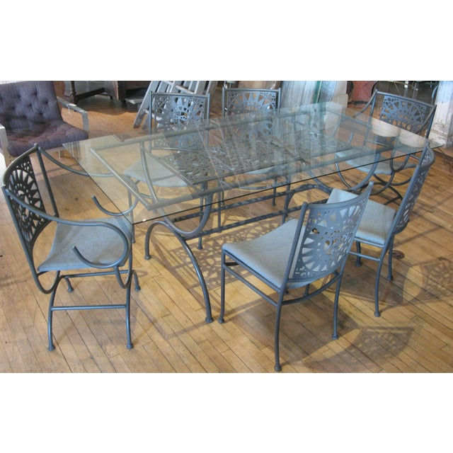 Gray Vintage Arthur Umanoff Mayan Sun Dining Set - 7 Pieces For Sale - Image 8 of 9