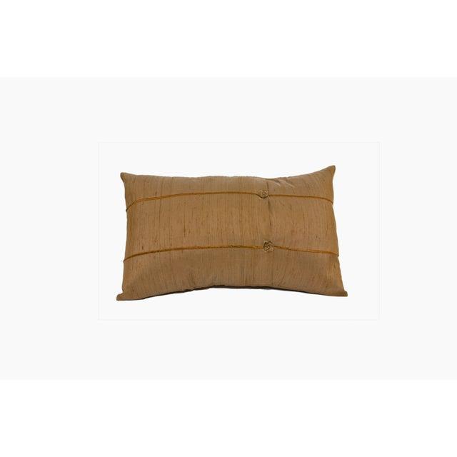 Mocha Raw Silk Lumbar Pillow Covers - Pair - Image 2 of 2