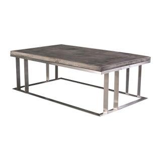 Dark Gray Rectangular Coffee Table
