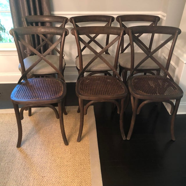 Rustic Thonet Styled Restoration Hardware Dining Chairs-Set of 6 For Sale - Image 3 of 13