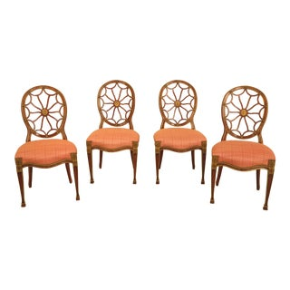 John Widdicomb Federal Web Back Dining Chairs - Set of 4 For Sale