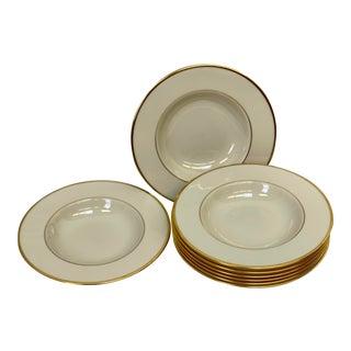 Lenox Mansfield Rim Soup Bowls - Set of 8 For Sale