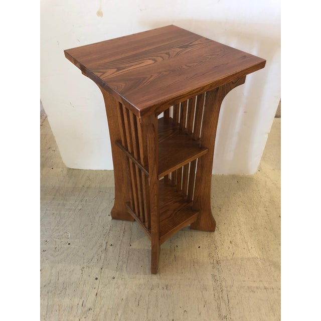 1950s Arts & Crafts Mission Style Side Table For Sale - Image 9 of 9
