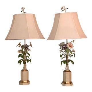 Mid-Century Modern Italian Tole Lamps - A Pair