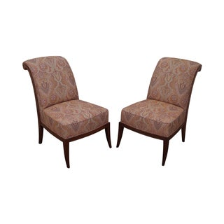 Ralph Lauren Upholstered Slipper Chairs - A Pair