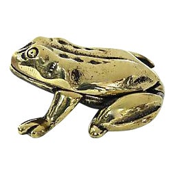 Antique English Brass Frog Match Box