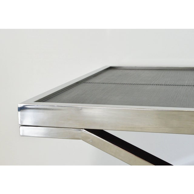 Early 21st Century Black Leather and Stainless Steel Coffee Table by Fabio Ltd For Sale - Image 5 of 8