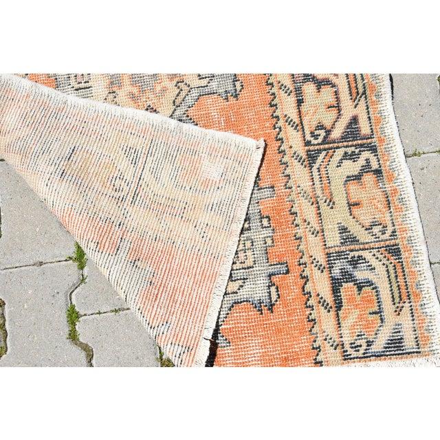 Antique Handmade Oushak Runner - 2′11″ × 6′9″ - Image 6 of 6
