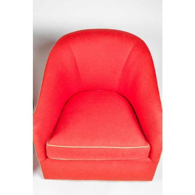 1960s Barrel Chairs, S/2 - Image 9 of 11