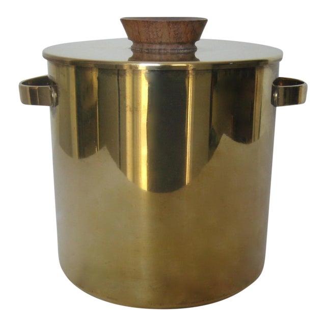Mid-Century Italian Brass & Teak Ice Bucket - Image 1 of 13
