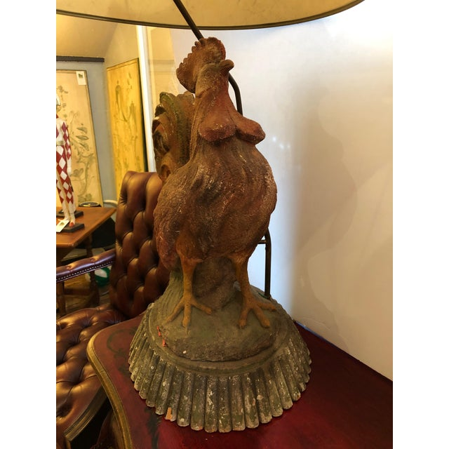 Dramatic Rooster Lamps From Montana Lodge With Shades - a Pair For Sale In Philadelphia - Image 6 of 13
