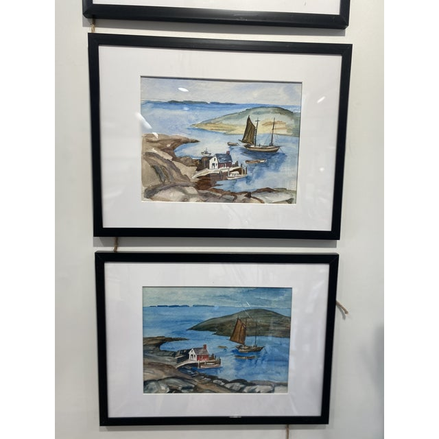 1950s Collection of Watercolors by Walter Killam - Set of 15 For Sale In Portland, ME - Image 6 of 11