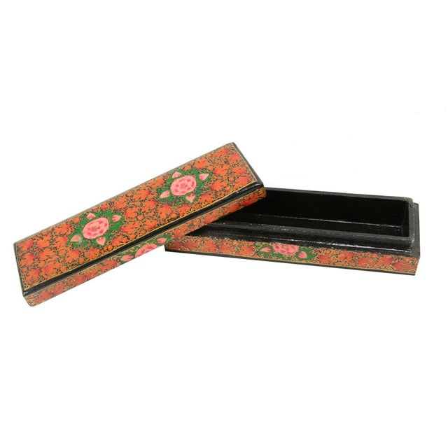 Hand Painted Kashmiri Pencil Box II - Image 2 of 3