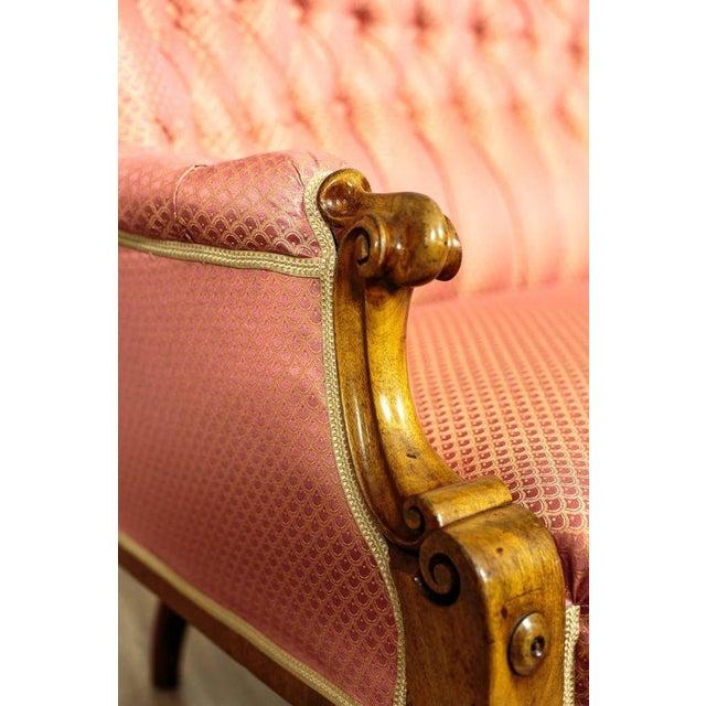 Pink Tufted Pink Mahogany Sofa Circa 1890 For Sale - Image 8 of 9