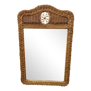 Natural Wicker Lexington Mirror For Sale