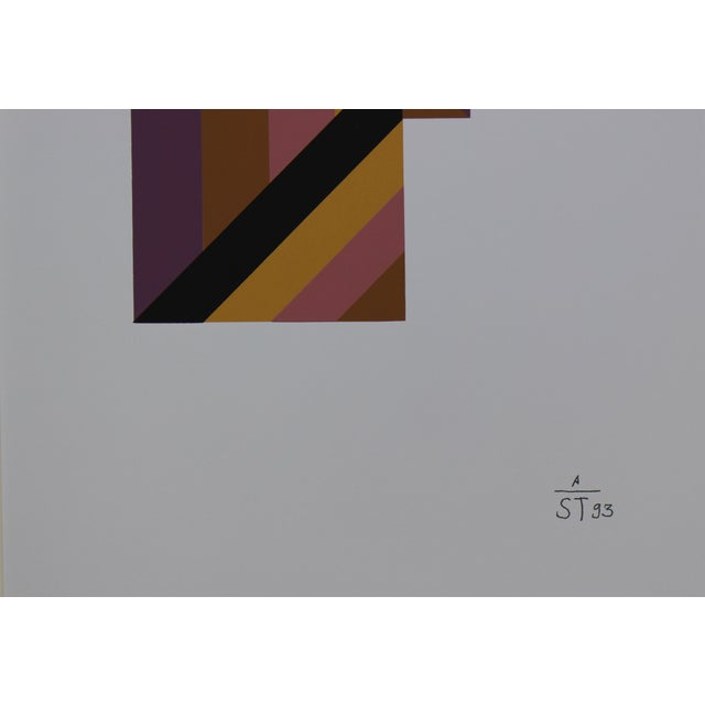 1997 Abstract Serigraph by Anton Stankowski, Limited Edition For Sale - Image 4 of 4