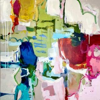 "Original Mixed Media Abstract Painting by Gina Cochran ""Powder Keg"" For Sale"