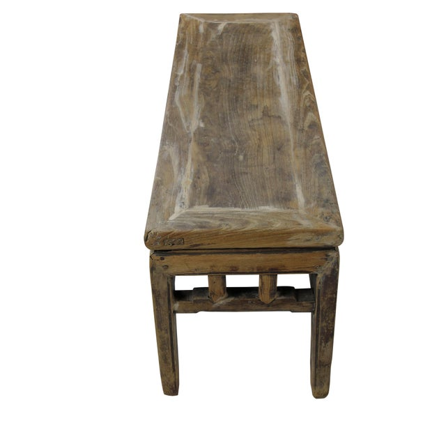 Rustic Shandong Elm Bench For Sale - Image 4 of 6