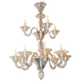 Beautiful Venetian Blown Glass Chandelier For Sale